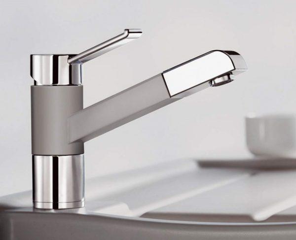 Blanco Zenos-S 517827 Eenhendel Keukenkraan Silgranit Look Met Uittrekbare Handdouche Café