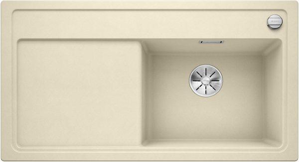 Blanco Zenar 5-S 523883 Jasmijn Spoelbak Silgranit Inclusief Draaiknopbediening Inclusief Snijplank Onderbouw Of Opbouw