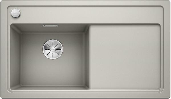 Blanco Zenar 45-S 523809 Parelgrijs Spoelbak Links Silgranit Inclusief Draaiknopbediening Onderbouw Of Opbouw
