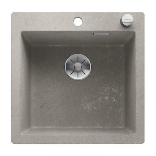 Blanco Pleon 5 525303 Silgranit Betonlook Spoelbak Inclusief Draaiknopbediening Onderbouw Of Opbouw