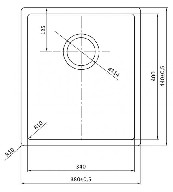 Lorreine 34R Rvs Spoelbak Onderbouw-Vlakbouw-Opbouw