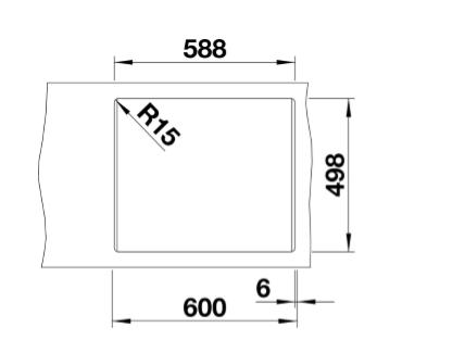 Blanco Etagon 6 524536 Silgranit Spoelbak Tartufo Inclusief Draaiknopbediening Inclusief Rails Opbouw