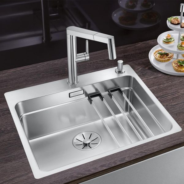 Blanco Panera-S 521547 Eenhendel Keukenkraan Volledig Rvs Met Uittrekbare Handdouche