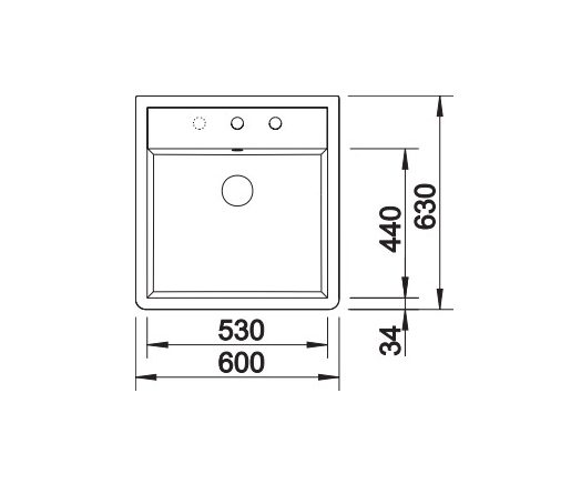 Blanco Panor 60 514501 Keramiek Spoelbak Wit 2 Kraangaten Opbouw
