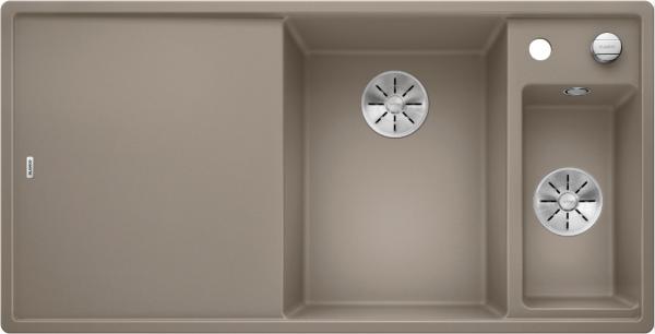 Blanco Axia Iii 6 S 523480 Spoelbak Rechts Silgranit Tartufo Inclusief Draaiknopbediening Inclusief Glazen Snijplank Onderbouw Of Opbouw