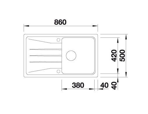 Blanco Sona 5 S 519673 Spoelbak Silgranit Aluminium Metallic Onderbouw Of Opbouw