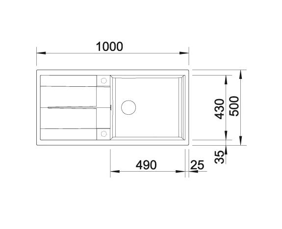 Blanco Metra Xl 6 S 518881 Spoelbak Silgranit Rotsgrijs Inclusief Draaiknopbediening Omkeerbaar Onderbouw Of Opbouw