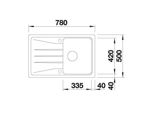 Blanco Sona 45 S 519669 Spoelbak Silgranit Tartufo Omkeerbaar Onderbouw Of Opbouw