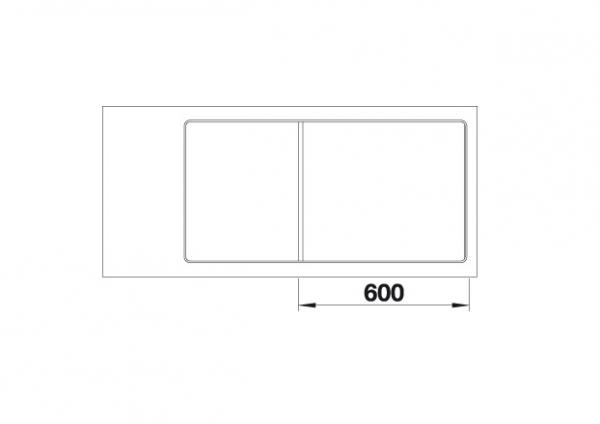 Blanco Axia Iii 6 S-F 523490 Spoelbak Rechts Silgranit Rotsgrijs Inclusief Draaiknopbediening Inclusief Glazen Snijplank Vlakbouw Of Onderbouw