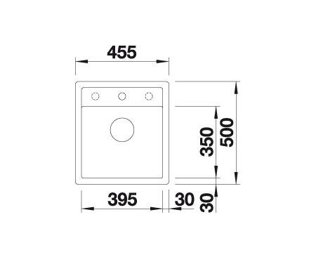 Blanco Dalago 45-F 517166 Spoelbak Silgranit Antraciet Inclusief Draaiknopbediening Vlakbouw Of Onderbouw