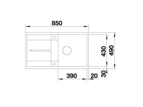 Blanco Metra 5 S-F 519097 Spoelbak Silgranit Antraciet Inclusief Draaiknopbediening Omkeerbaar Vlakbouw Of Onderbouw