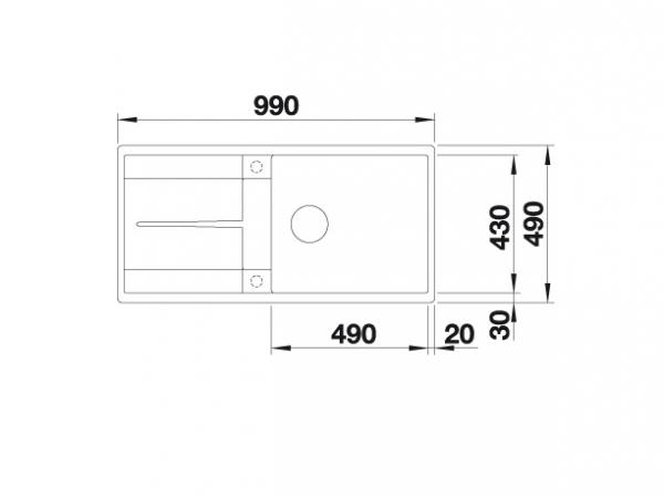 Blanco Metra Xl 6 S-F 516523 Spoelbak Silgranit Jasmijn Inclusief Draaiknopbediening Omkeerbaar Vlakbouw Of Onderbouw
