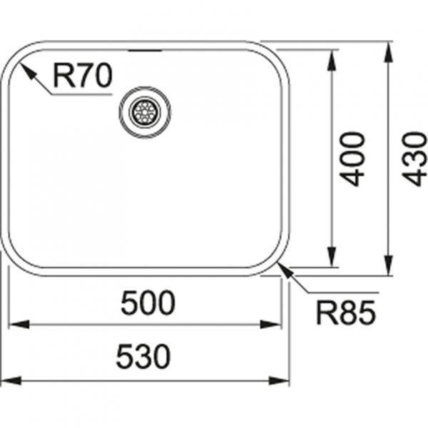 Franke Bellisimo Spoelbak Rvs Btx 210.50 Vlakbouw