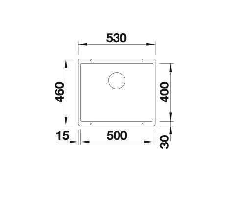 Blanco Subline 500-U 523439 Spoelbak Silgranit Tartufo Onderbouw