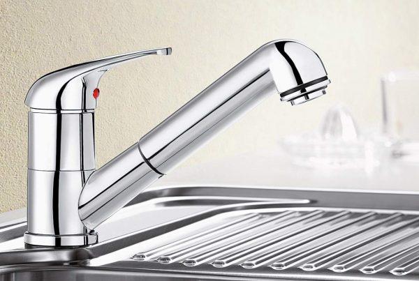 Blanco Vitis-S 515583 Eenhendel Keukenkraan Met Uittrekbare Handdouche Chroom