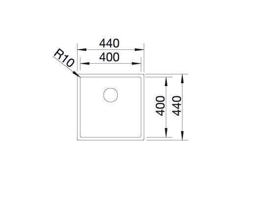 Blanco Claron 400-If 521572 Spoelbak Rvs Vlakbouw Of Opbouw