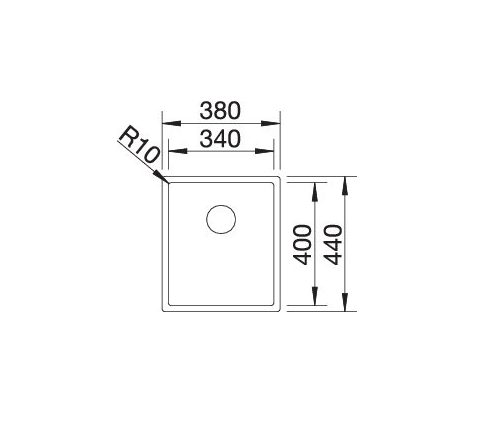 Blanco Claron 340-If 521570 Spoelbak Rvs Vlakbouw Of Opbouw