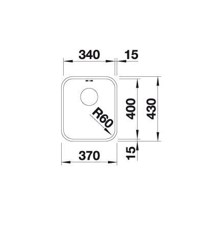 Blanco Supra 340-U 518199 Spoelbak Rvs Onderbouw