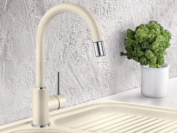 Blanco Mida-S 521456 Keukenkraan Met Uittrekbare Handdouche Silgranit-Look Aluminium Metallic