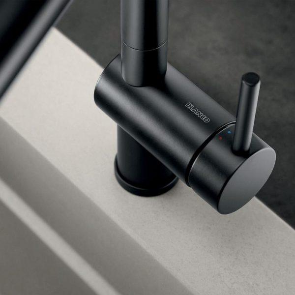 Blanco Linus-S 525807 Eenhendel Keukenkraan Special Mat Zwart Met Uittrekbare Handdouche