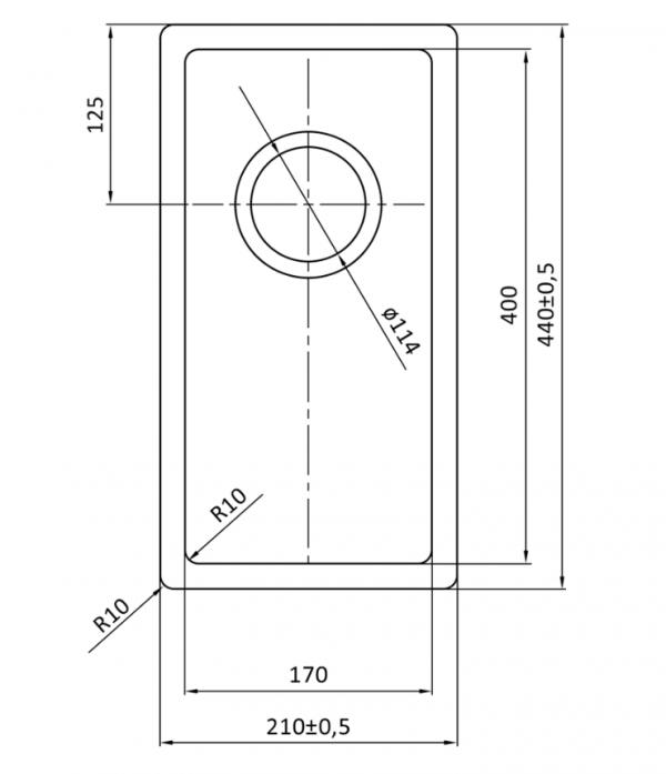 Lorreine 17R Rvs Spoelbak Onderbouw-Vlakbouw-Opbouw