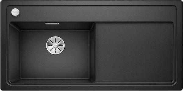 Blanco Zenar Xl 6-S 523974 Antraciet Spoelbak Links Silgranit Inclusief Draaiknopbediening Inlcusief Snijplank Onderbouw Of Opbouw