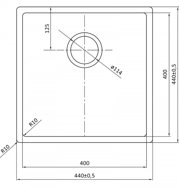 Lorreine 40R Rvs Spoelbak Onderbouw-Vlakbouw-Opbouw