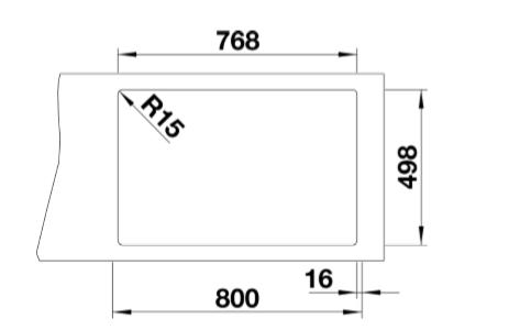 Blanco Etagon 8 525184 Silgranit Spoelbak Tartufo Inclusief Draaiknopbediening Inclusief Rails Opbouw