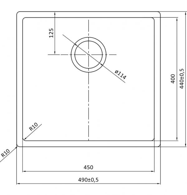 Lorreine 45R Rvs Spoelbak Onderbouw-Vlakbouw-Opbouw