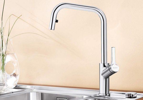 Blanco Jurena-S 520765 Eenhendel Keukenkraan Met Uittrekbare Handdouche Chroom