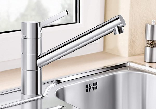 Blanco Tivo-F 518409 Eenhendel Keukenkraan Voor Raammontage Voor Lage Druk Chroom