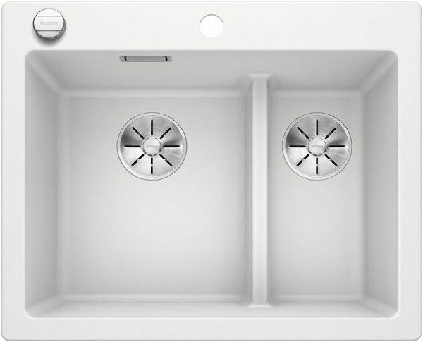 Blanco Pleon 6 Split 523700 Wit Spoelbak Silgranit Inclusief Draaiknopbediening Onderbouw Of Opbouw