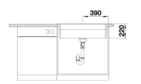 Blanco Etagon 8 525178 Silgranit Spoelbak Rotsgrijs Inclusief Draaiknopbediening Inclusief Rails Opbouw