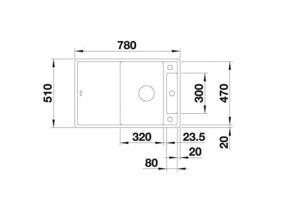 Blanco Axia Iii 45-S 523173 Spoelbak Silgranit Antraciet Inclusief Draaiknopbediening Inclusief Houten Snijplank Omkeerbaar Onderbouw Of Opbouw