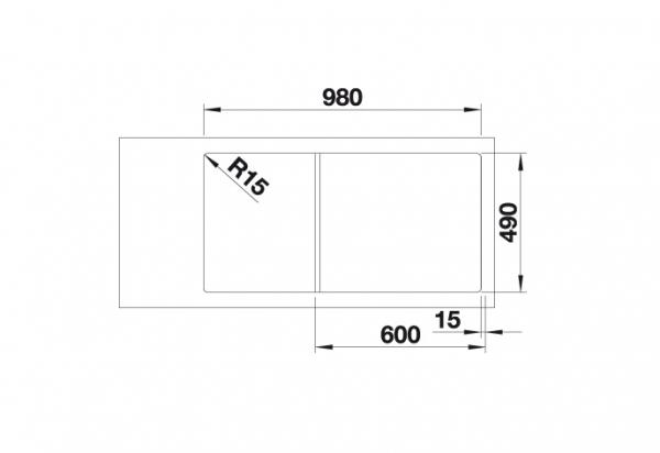 Blanco Axia Iii 6 S 523477 Spoelbak Rechts Silgranit Wit Inclusief Draaiknopbediening Inclusief Glazen Snijplank Onderbouw Of Opbouw