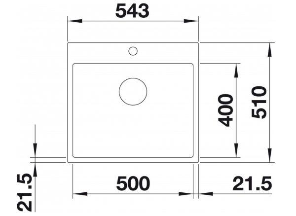 Blanco Subline 500-If/a 524114 Special Silgranit + Rvs Spoelbak Wit Vlakbouw Of Opbouw