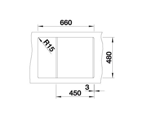 Blanco Metra 45 S Compact 519566 Spoelbak Silgranit Jasmijn Omkeerbaar Onderbouw Of Opbouw