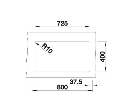Blanco Subline 350/350-U 523574 Dubbele Spoelbak Silgranit Antraciet Onderbouw