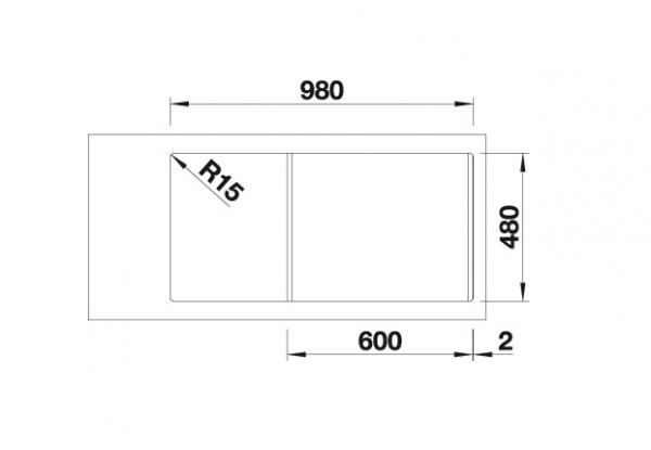Blanco Sona Xl 6 S 519689 Spoelbak Silgranit Antraciet Onderbouw Of Opbouw