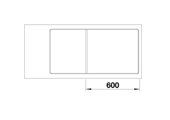 Blanco Axia Iii Xl 6 S-F 523528 Spoelbak Silgranit Aluminium Metallic Inclusief Draaiknopbediening Inclusief Glazen Snijplank Omkeerbaar Vlakbouw Of Onderbouw