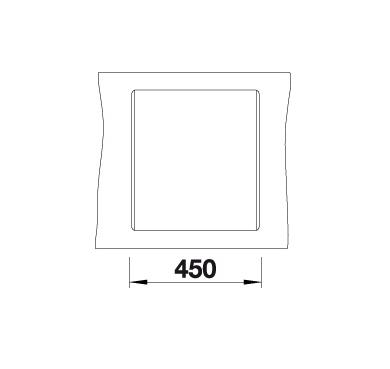 Blanco Dalago 45-F 517169 Spoelbak Silgranit Wit Inclusief Draaiknopbediening Vlakbouw Of Onderbouw