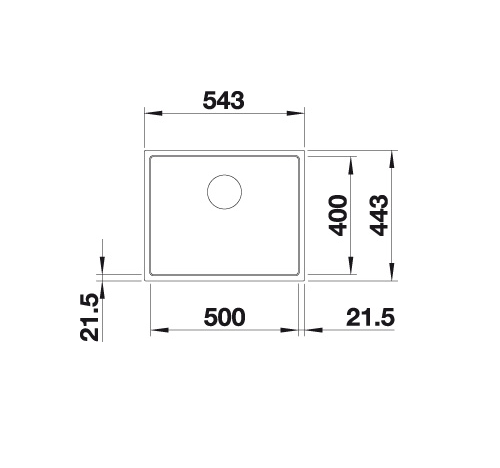 Blanco Subline 500-If Steelframe 524110 Spoelbak Silgranit Wit Vlakbouw Of Opbouw