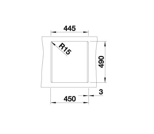 Blanco Dalago 45 517157 Spoelbak Silgranit Aluminium Metallic Inclusief Draaiknopbediening Onderbouw Of Opbouw