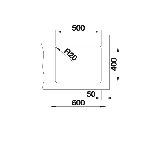Blanco Etagon 500-U 522229 Spoelbak Silgranit Aluminium Metallic Inclusief Rails Onderbouw