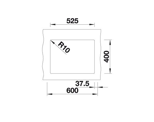 Blanco Subline 340/160-U 523551 Anderhalve Spoelbak Links Silgranit Parelgrijs Onderbouw