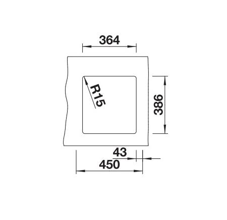 Blanco Subline 375-U 523727 Spoelbak Keramiek Magnolia Glans Onderbouw