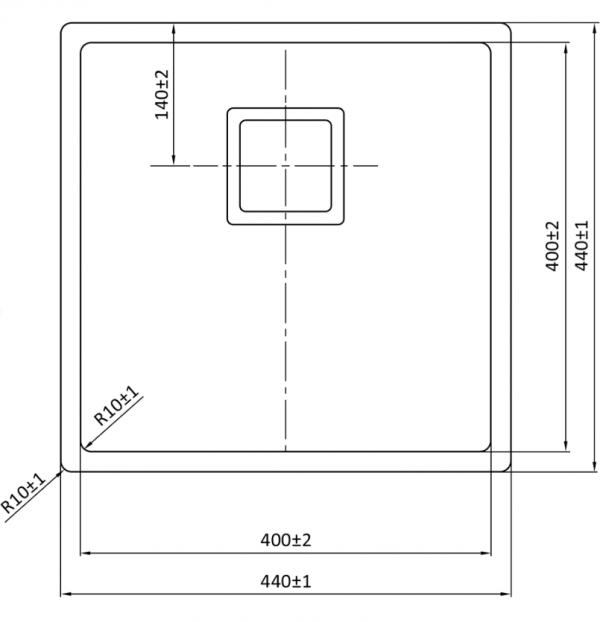 Lorreine 40Vk Rvs Spoelbak Kantelbare Korfplug Onderbouw-Vlakbouw-Opbouw