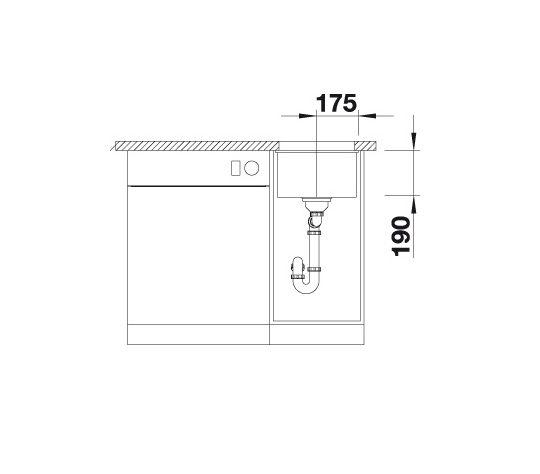 Blanco Subline 320-U 523407 Spoelbak Silgranit Rotsgrijs Onderbouw