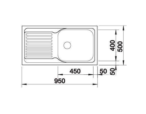 Blanco Tipo Xl 6 S 511908 Rvs Spoelbak Omkeerbaar Opbouw