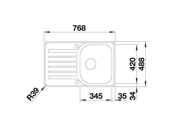 Blanco Lantos 45 S-If 519059 Spoelbak Rvs Inclusief Draaiknopbediening Omkeerbaar Vlakbouw Of Opbouw